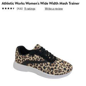LIKE NEW! Athletic Works Leopard Print Sneakers